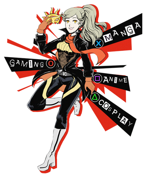 The theme was to redesign Taiyoucons mascot Sunny in a video game type outfit. I took inspiration from the popular videogame Persona 5 to redesign her outfit.