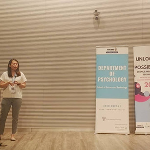 Our Principal, Sien, presenting on the topic of Verbal Behavior at Malaysia's very first ABA conference.