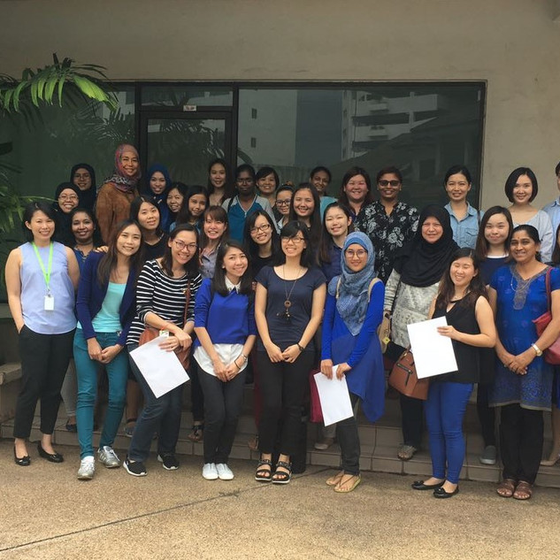 Participants at one of our public workshops for school teachers, which was held in conjunction with the World Autism Month global campaign. Photo taken in 2016.