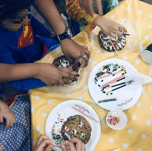 Our kids showing diligence at work during the Baking workshop of our annual holiday camp.