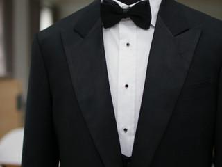 A 3-piece tuxedo for a wedding