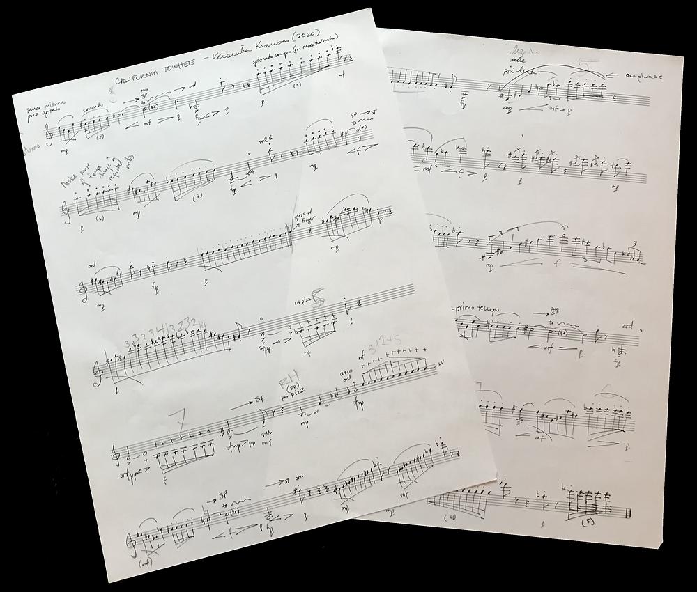 Original Score (excuse the pencil markings)