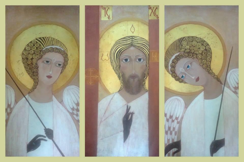 Деисус. Христос Златые Власа. Троица