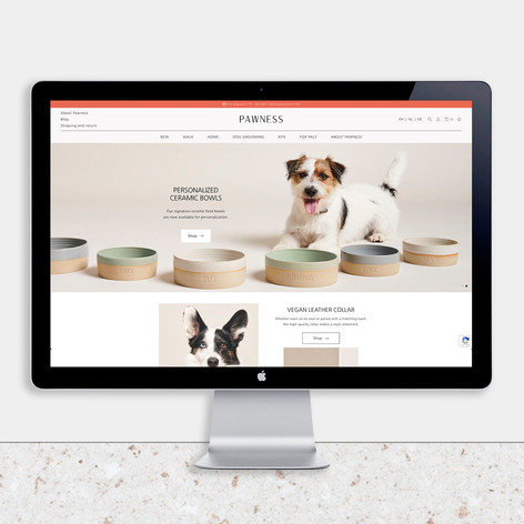 Pawness   Website design