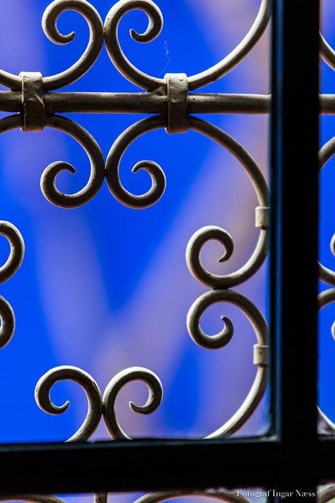 Blå dekor