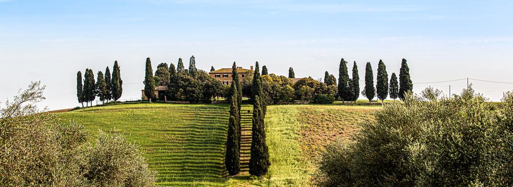 """Villa of the movie """"Gladiator"""" - Val d'Orcia - Tuscany - Italy"""