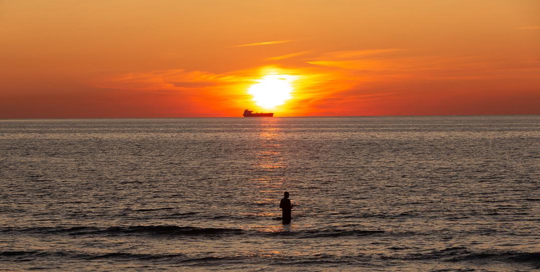 Solnedgang Skagen fisker 3