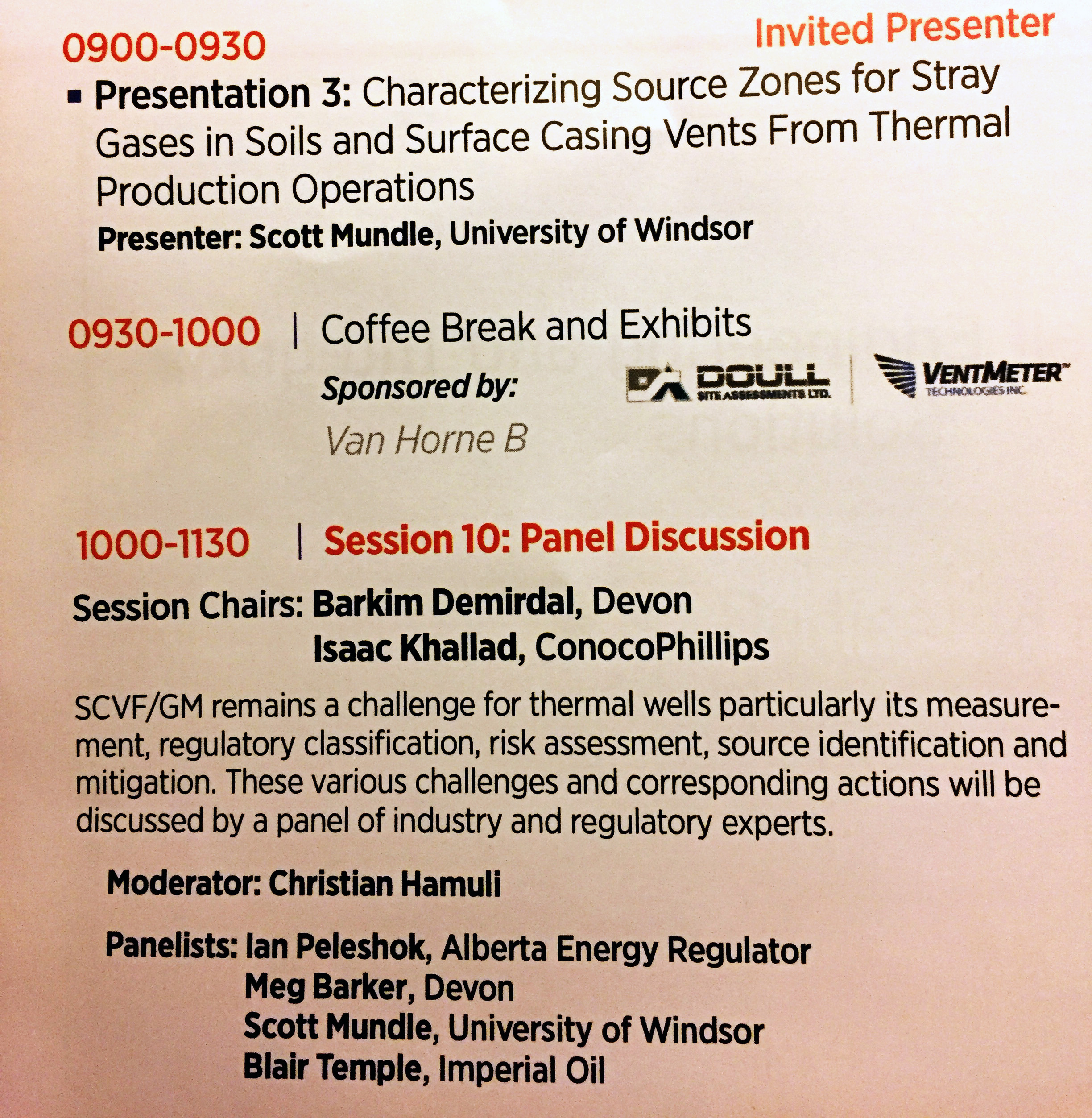 Scott Mundle invited speaker and panelist at SPE thermal