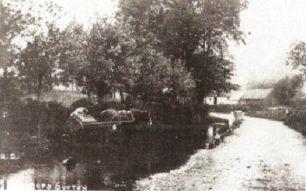 Bishop's Sutton, the river at Bighton Lane c1910