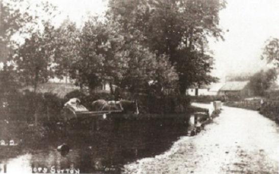Bishop's Sutton, the river at Bighton Lane, c1910