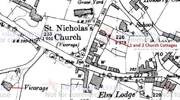 Bishop's Sutton, 1&2 Church Cottages