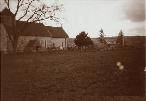 Bishop's Sutton, St Nicholas Church 1913, Edward Thomas