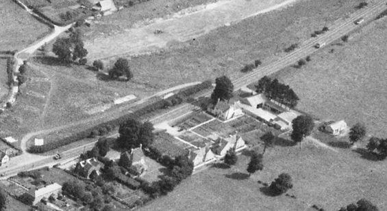 Bishop's Sutton, Cobbs Farm Bishops Sutton aerial view 1947