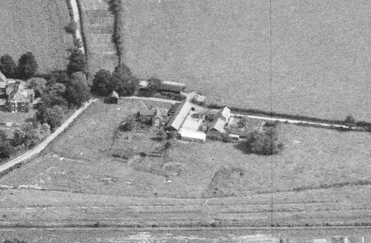 Bishop's Sutton, Bassett farm from the South, aerial 1947
