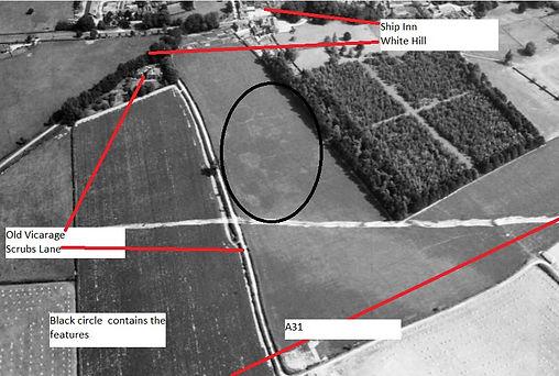 Bishop's Sutton, Scrubbs Lane Archaeology field markings