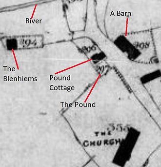 Bishop's Sutton,  Tithe Map 1839 showing Pound Cottage