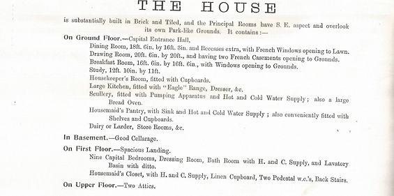 Bishop's Sutton, The Elms auction catalogue, 1903