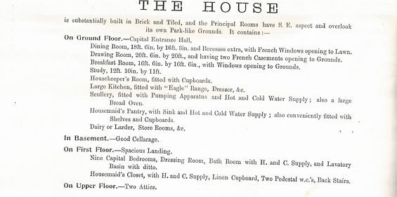 Bishop's Sutton, The Elms auction catalogue, 1903