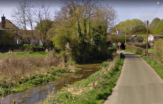 Bishop's Sutton, the river at Bighton Lane, 2011