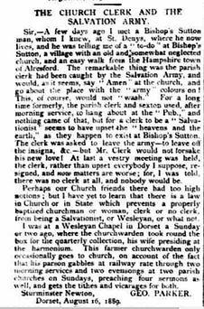 Bishop's Sutton, Church Trouble 1889