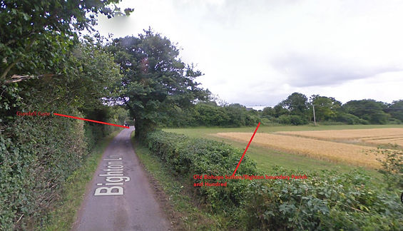 Bishop's Sutton, Showing old Boundary from Bighton towards Bishop's Sutton at Gundleton 2011