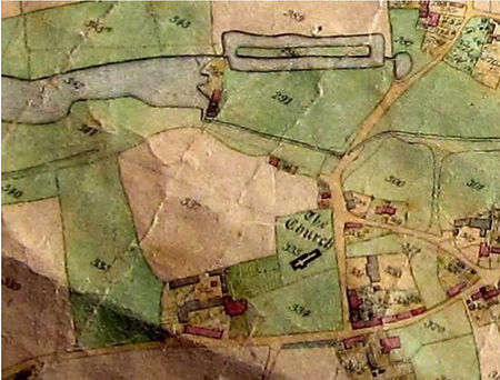 Bishop's Sutton, 1839 tithe map showing the location of the Bishop's Palace