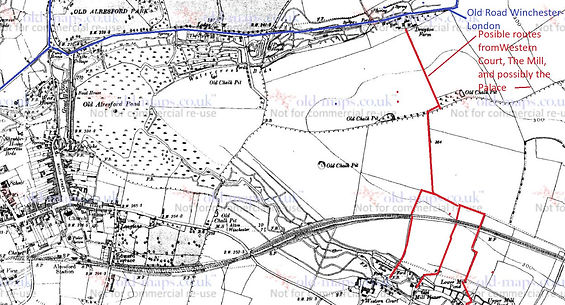 Bishop's Sutton, probable connecting tracks to the Old Royal Winchester Road