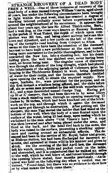 Missing Bishop's Sutton man body found 1870