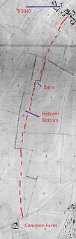 Bishop's Sutton, Holkam Bottom Field, 1839 map