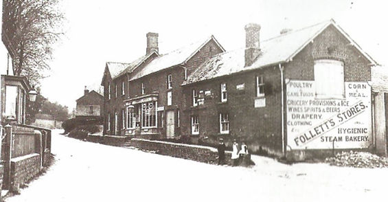 Bishop's Sutton, Follet's Stores c1906