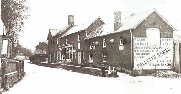 Bishop's Sutton, Folletts Stores c1906