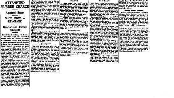 Bishop's Sutton, Murder 1934