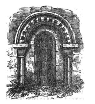 Bishop's Sutton, A representation of the doorway without its more modern porch taken from Duthys Sketches of Hampshire 1839.