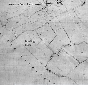 Bishop's Sutton, Bowling Close 1839 Tithe Map