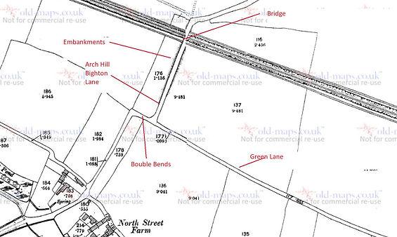 Bishop's Sutton, 1896 Map showing Arch Hill