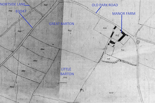 Bishop's Sutton,  Great and Little Barton Fields, Tithe Map 1839
