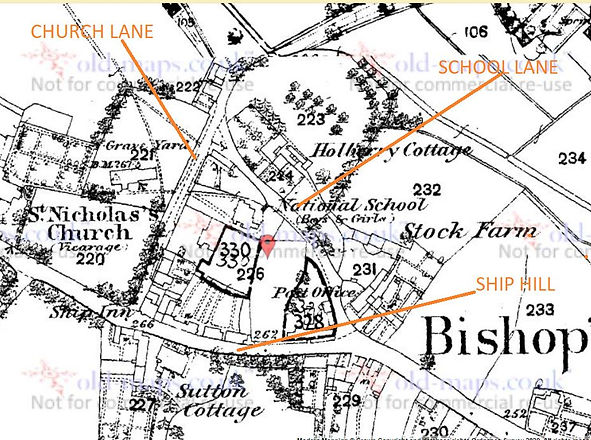 Bishop's Sutton, School Lane 1881