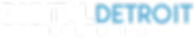 Digital Detroit Media Logo white and blu