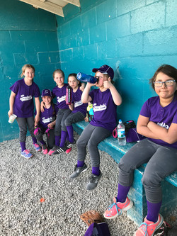 Rookie Softball Team in the dugout!