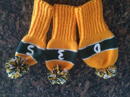 Green Bay Packers Crochet Golf Club Covers Free Shipping