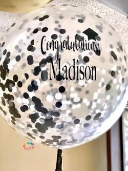 Custom Confetti Message Balloon
