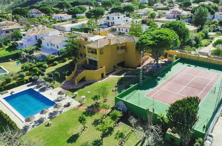 Our Villa with pool and tennis court