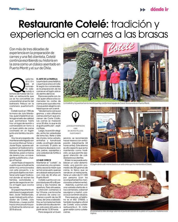 Restaurante Cotelé: Tradición y experiencia en carnes a las brasas