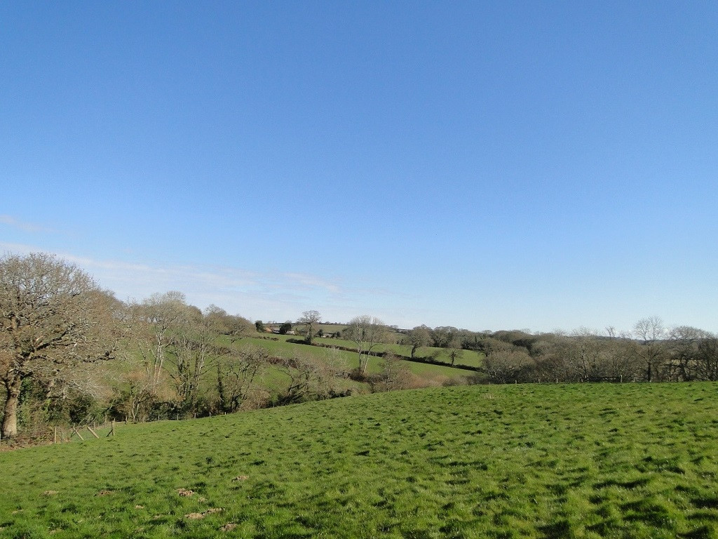 Views out over Cornish countryside from property.