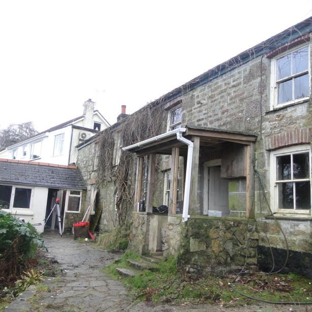 Original cottage before renovation works