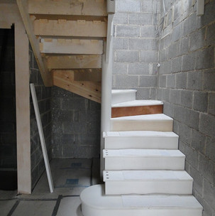 Curved staircase designed by CAD.