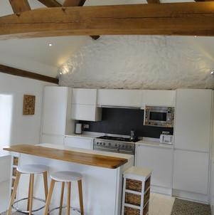 Oak frame contemporary kitchen