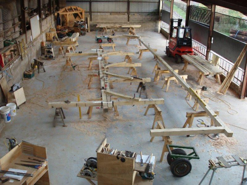 Oak frame assembly