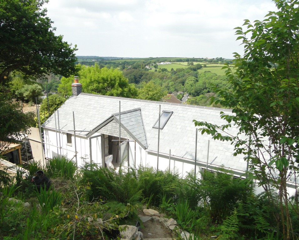 Renovation works and extension to cottage in Ponsanooth, Cornwall.