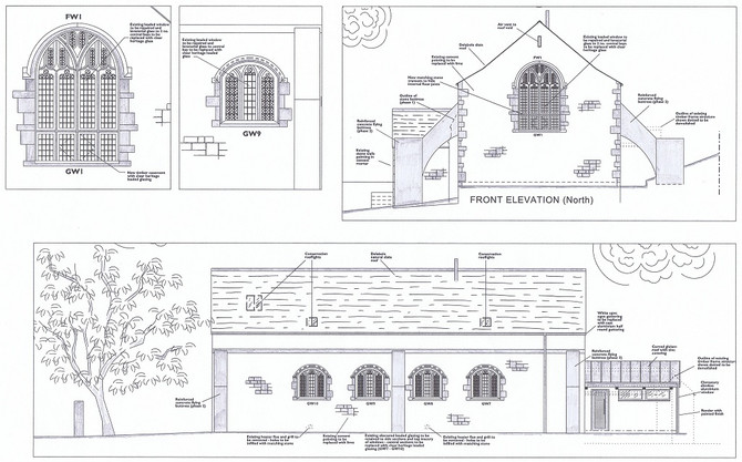 Approved drawings for  Grade II listed Church conversion in Truro, Cornwall.